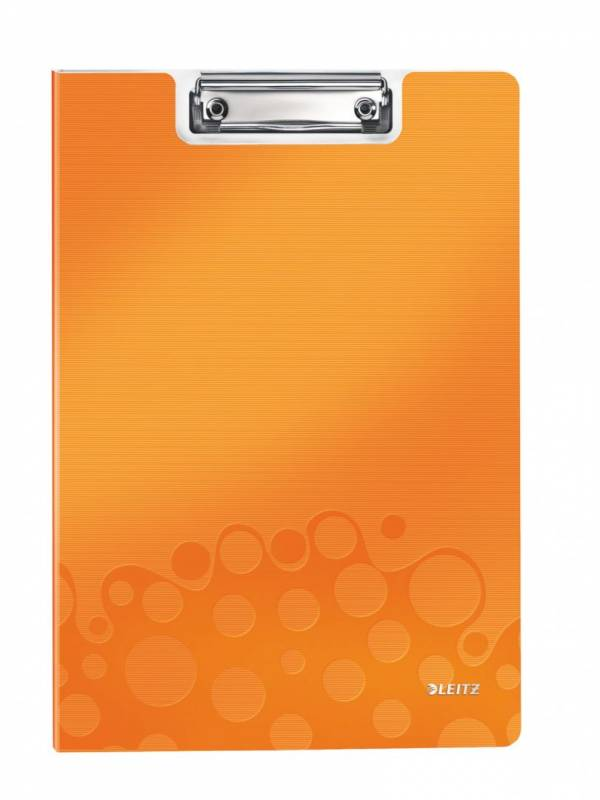 Image of   Clipboard Leitz WOW m/forside A4 orange