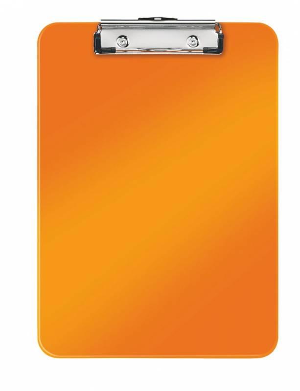 Image of   Clipboard Leitz WOW u/forside A4 orange