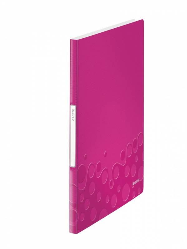 Image of   Displaybog Leitz WOW PP 20 lommer pink