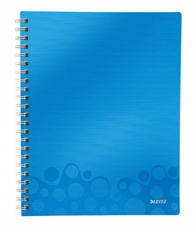 Billede af Notesblok WOW A4 lin 3-delt 80g 80 blade blå