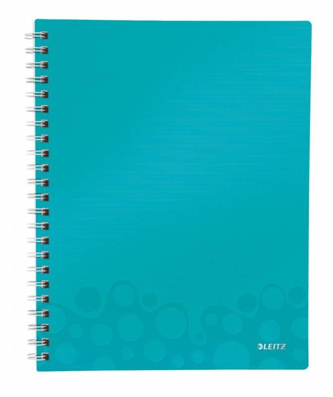 Billede af Notesblok WOW A4 lin 3-delt 80g 80 blade isblå
