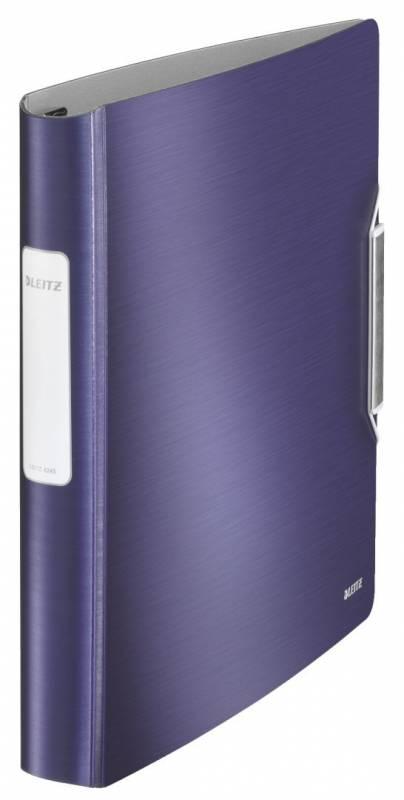 Billede af Ringbind Leitz Style plast A4 4DR 30mm titan blå
