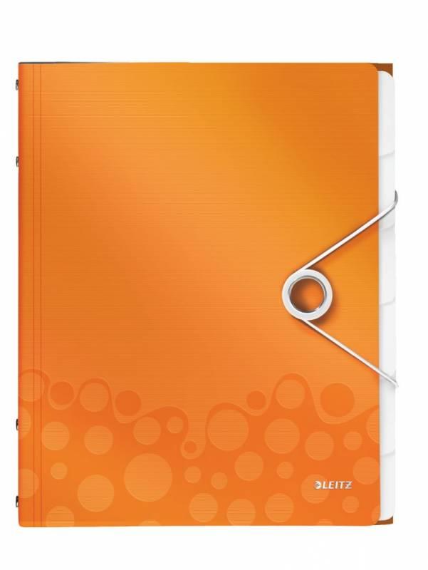 Image of   Sorteringsmappe Leitz WOW PP 6-delt orange
