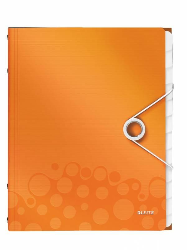Image of   Sorteringsmappe Leitz WOW PP 12-delt orange