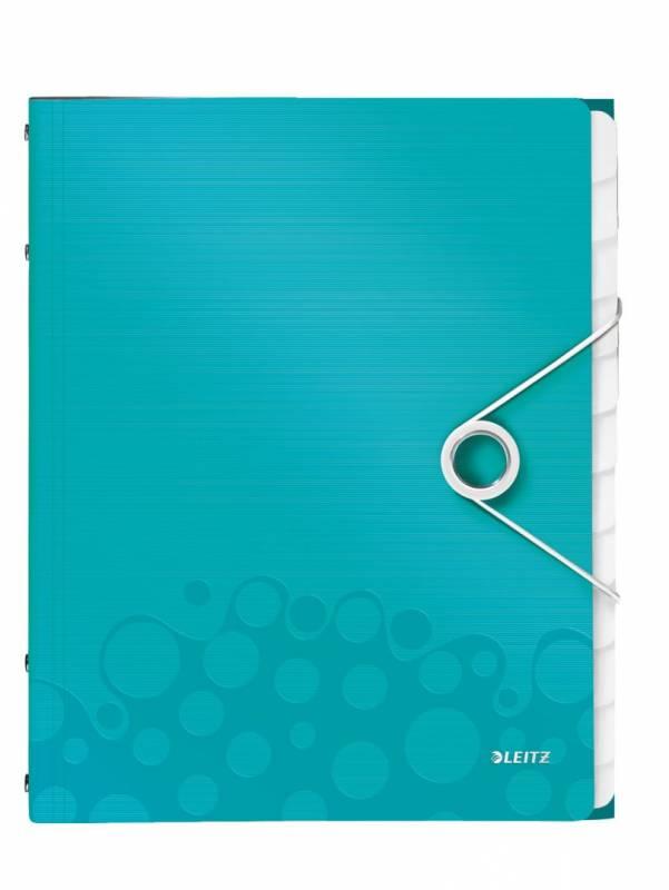 Image of   Sorteringsmappe Leitz WOW PP 12-delt isblå