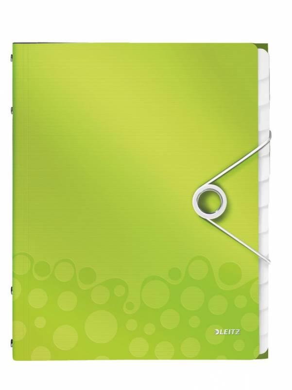 Image of   Sorteringsmappe Leitz WOW PP 12-dellt grøn