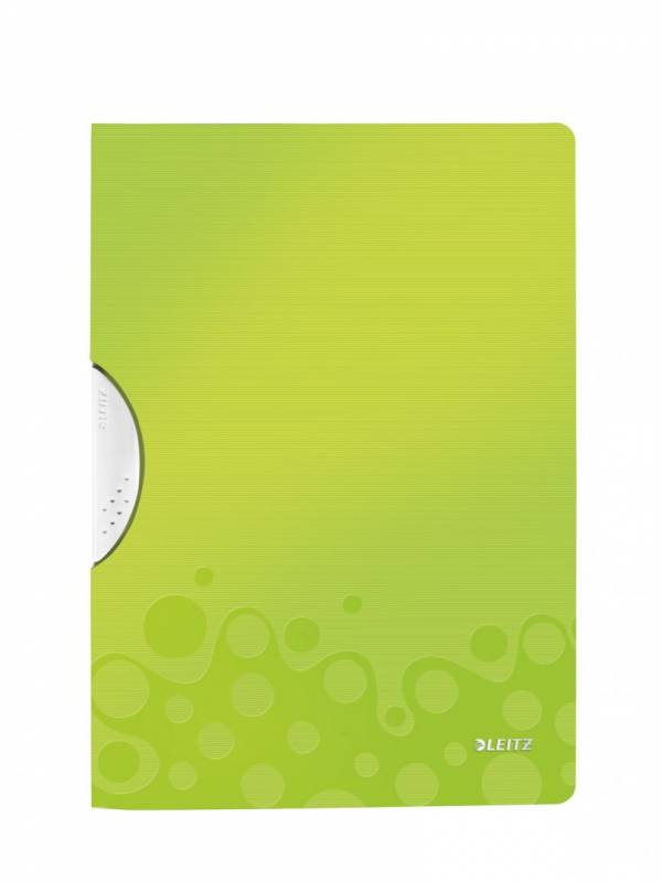 Image of   Universalmappe Leitz WOW A4 ColorClip PP grøn metallic