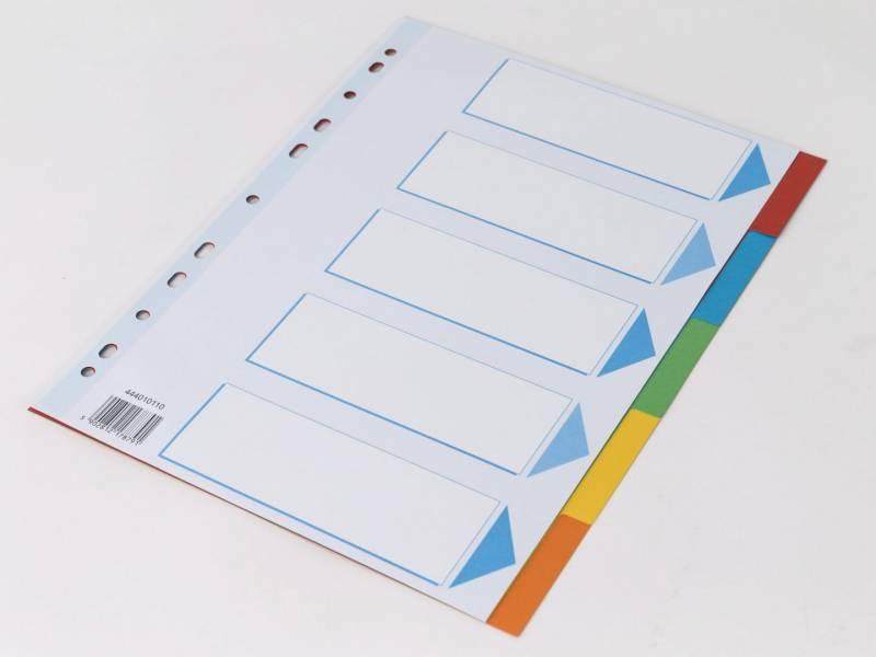 Image of   Faneblad Q-Line A4 5-delt karton m/kartonforblad