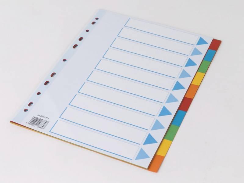 Image of   Faneblad Q-Line A4 10-delt karton m/kartonforblad