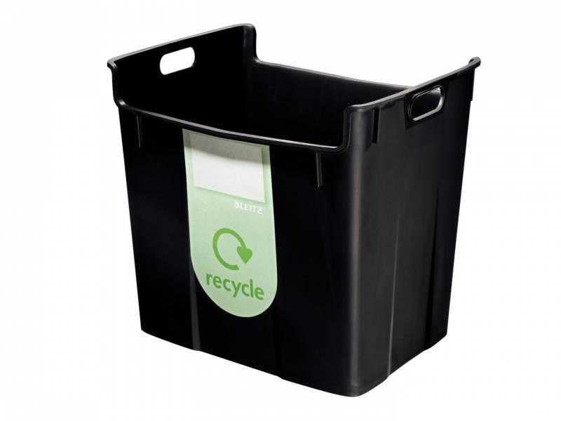 Billede af Papirkurv Leitz Basko 40l sort m/recycling-label
