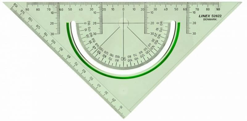 Billede af Geometritrekant Linex S2622 m/vinkelmåler
