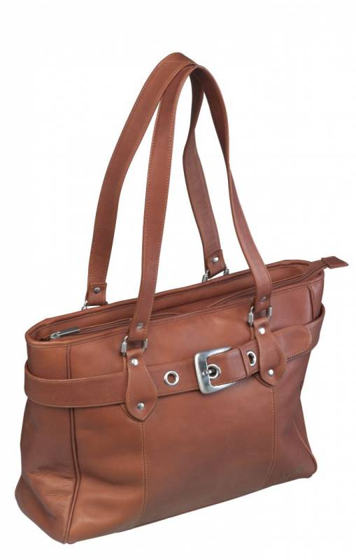 Image of   Computertaske New Classic Shopper læder naturbrun