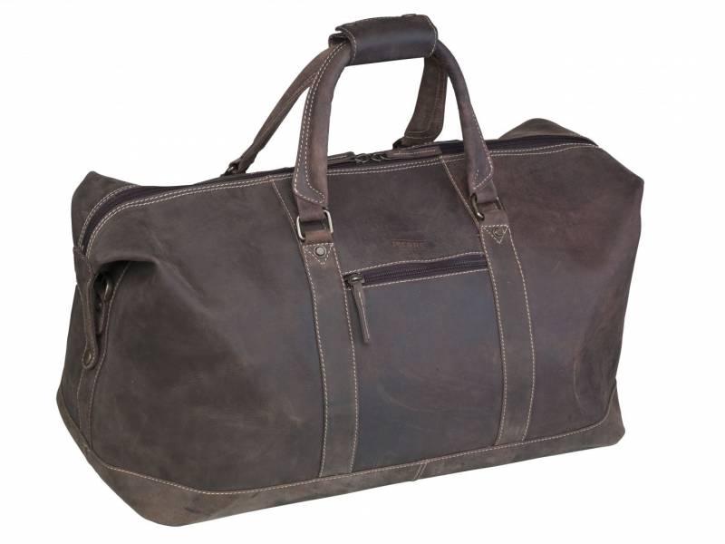 Billede af Rejsetaske Crazy Horse Travelbag læder brun