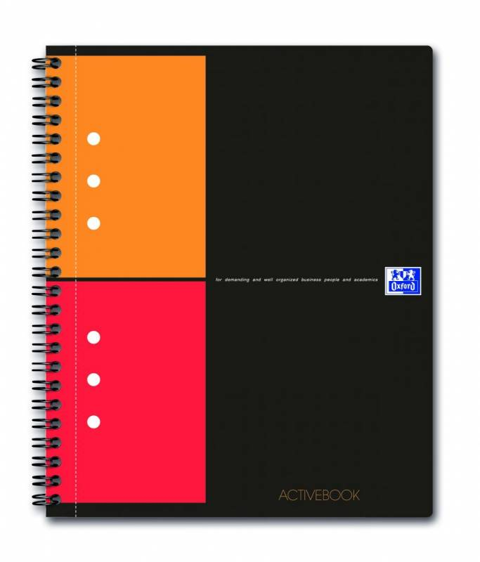 Image of   Activebook Oxford int. A5+ kvadreret 80 blade