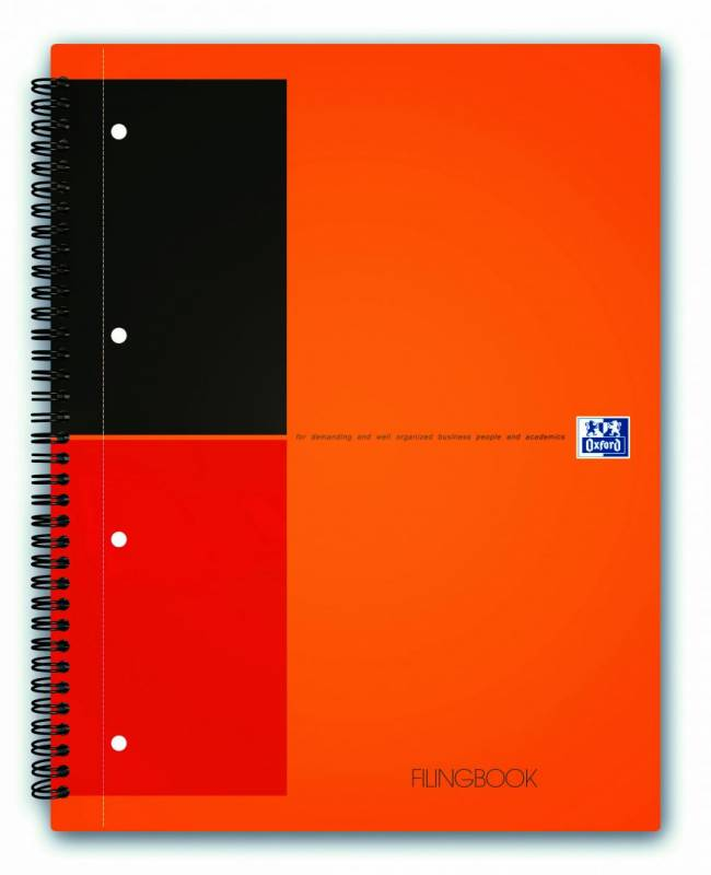 Image of   FilingBook Oxford int. A4+ linjeret 100 blade