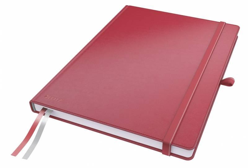 Billede af Notesblok Leitz Complete A4 linieret 80 perf. blade rød