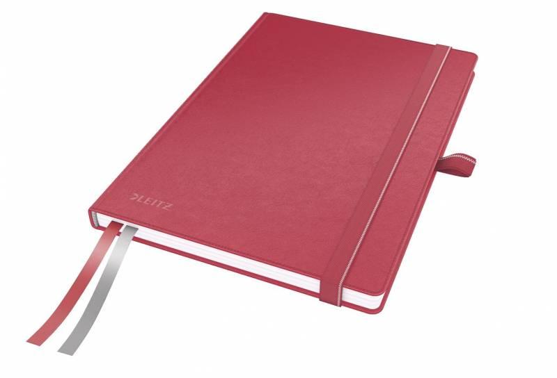 Billede af Notesblok Leitz Complete A5 linieret 80 perf. blade rød