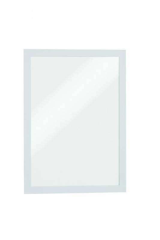 Skilt DURAFRAME® selvklæbende A4 m/hvid ramme 2stk/pak