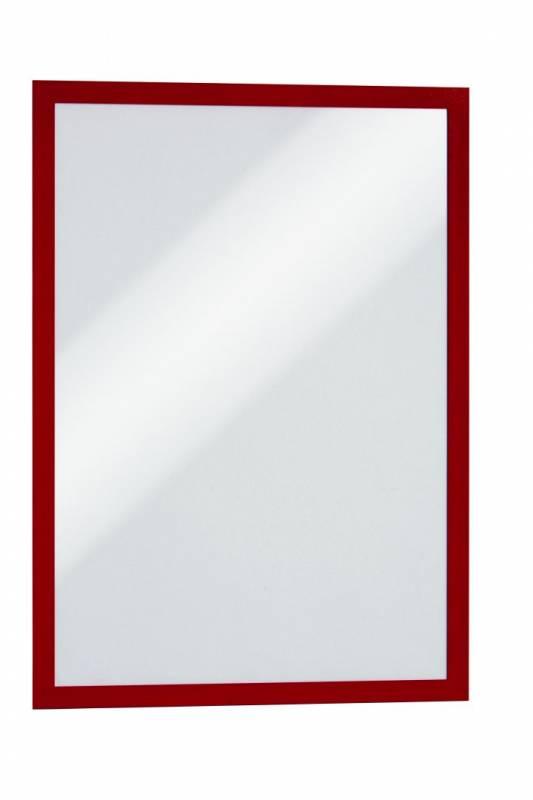 Skilt DURAFRAME® selvklæbende A3 m/rød ramme 2stk/pak