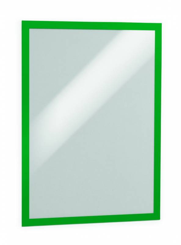Skilt DURAFRAME® selvklæbende A3 m/grøn ramme 2stk/pak