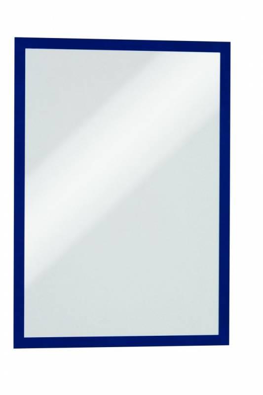 Skilt DURAFRAME® selvklæbende A3 m/blå ramme 2stk/pak