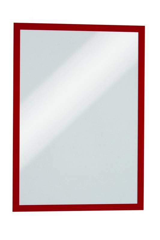 Image of   Skilt DURAFRAME® MAGNETIC A3 m/rød ramme 5stk/pak