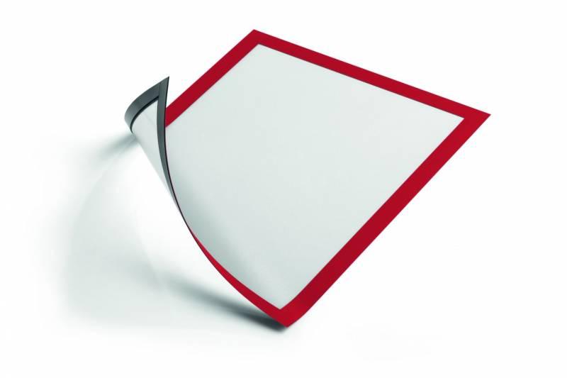 Image of   Skilt DURAFRAME® MAGNETIC A4 m/rød ramme 5stk/pak