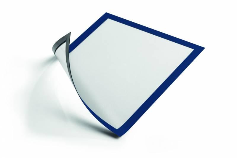 Image of   Skilt DURAFRAME® MAGNETIC A4 m/blå ramme 5stk/pak