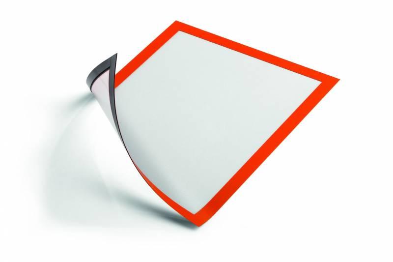 Image of   Skilt DURAFRAME® MAGNETIC A4 m/orange ramme 5stk/pak