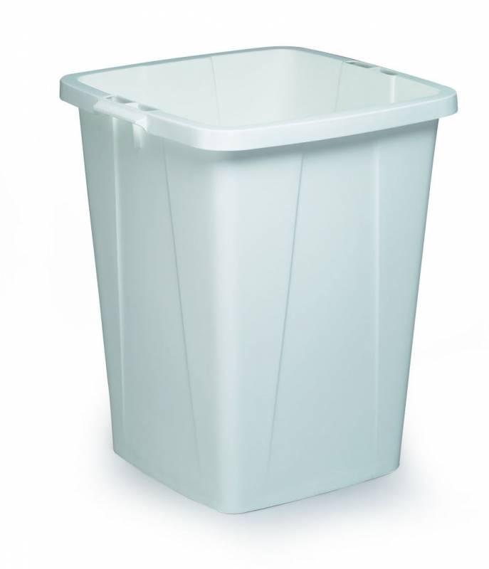 Billede af Affaldsspand DURABIN 90l firkantet hvid