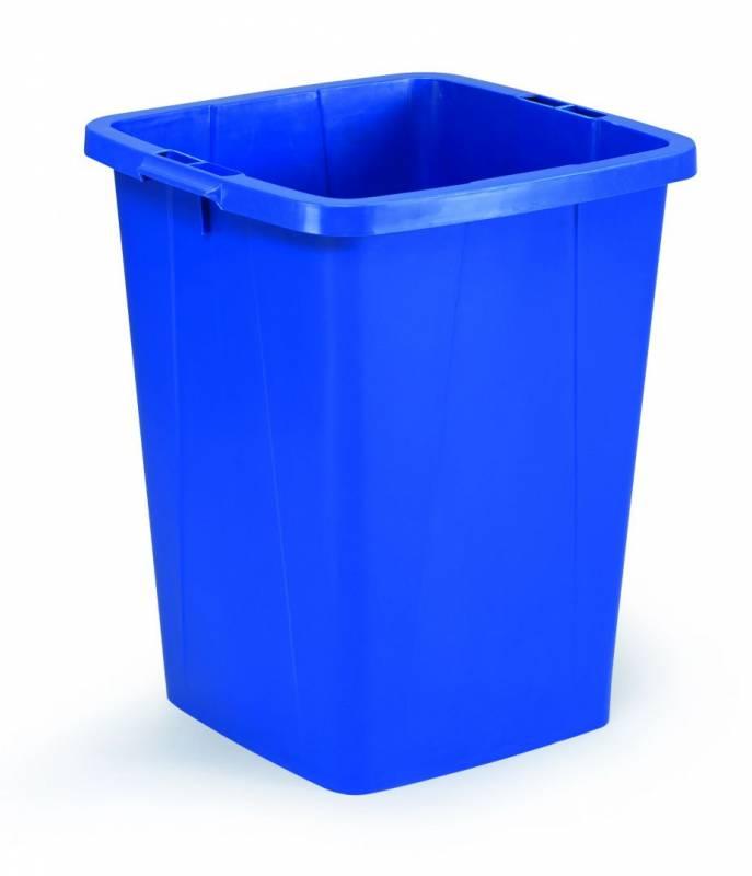 Billede af Affaldsspand DURABIN 90l firkantet blå