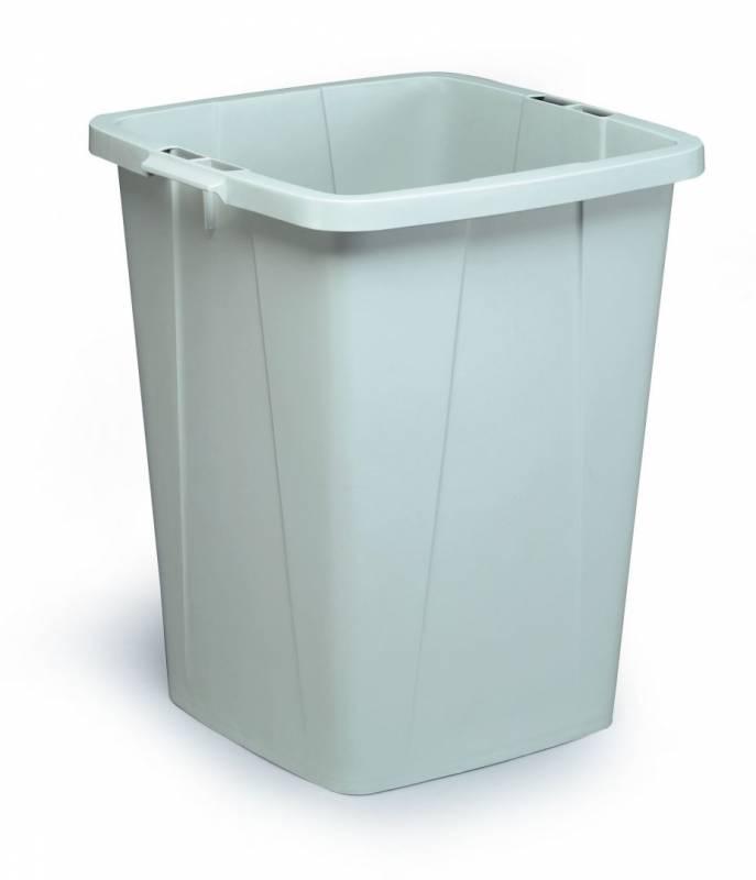 Billede af Affaldsspand DURABIN 90l firkantet grå