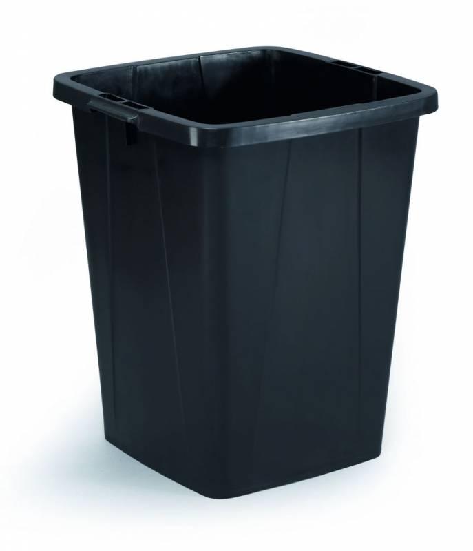 Billede af Affaldsspand DURABIN 90l firkantet genbrug sort
