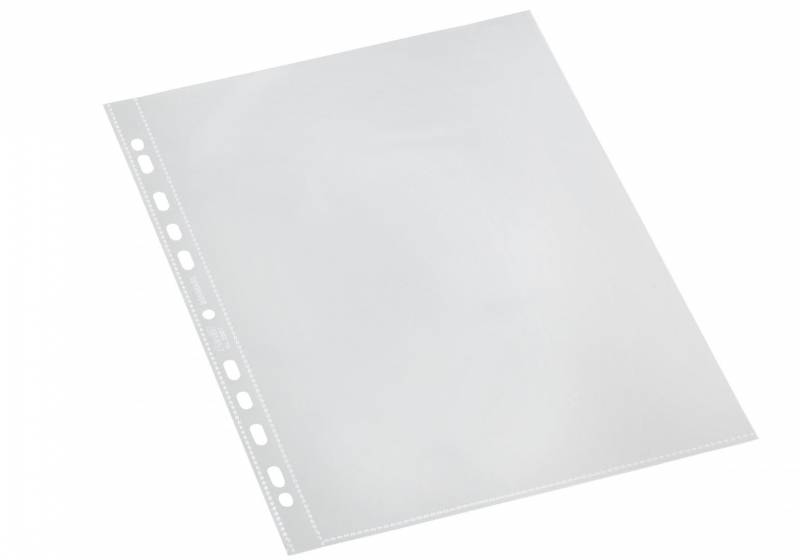 Billede af Plastlommer Bantex A4 glasklar 0,11mm åben top 100stk/pak