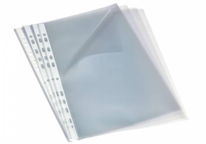 Billede af Plastlommer A4 åben top/ venstre side 0,09mm 100stk/pak