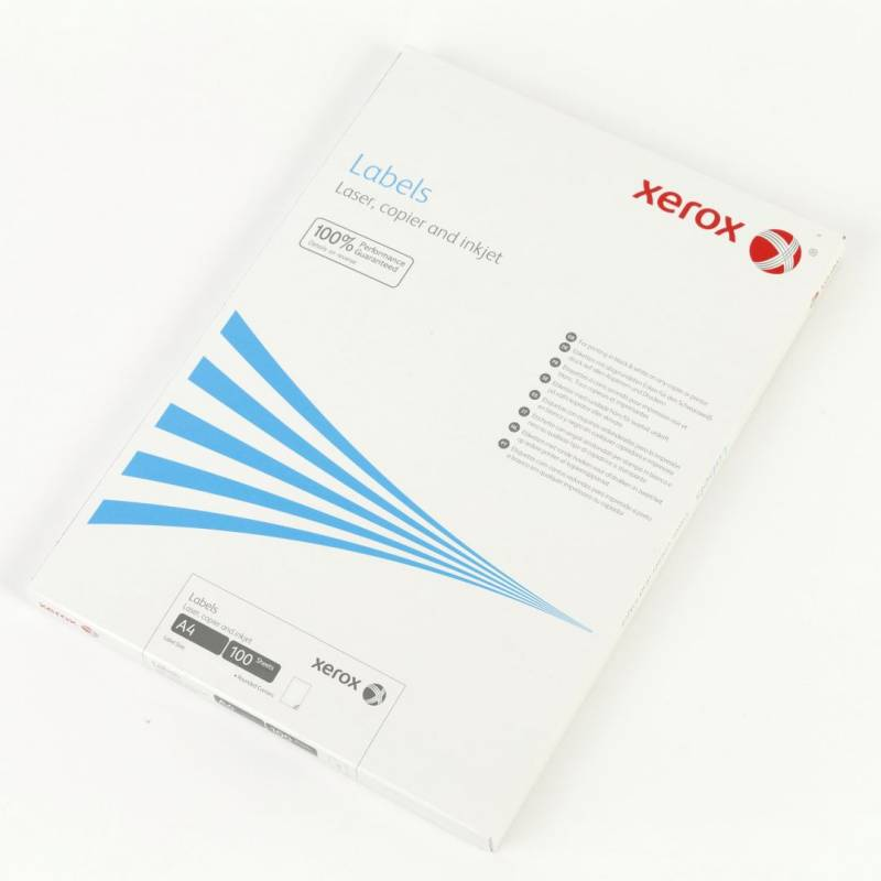 Image of   Laserlabels Xerox 1stk/ark (210x297mm) 003R97400 100ark/æsk