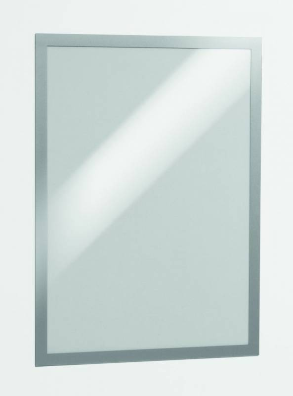 Skilt DURAFRAME® selvklæbende A3 m/sølv ramme 2stk/pak