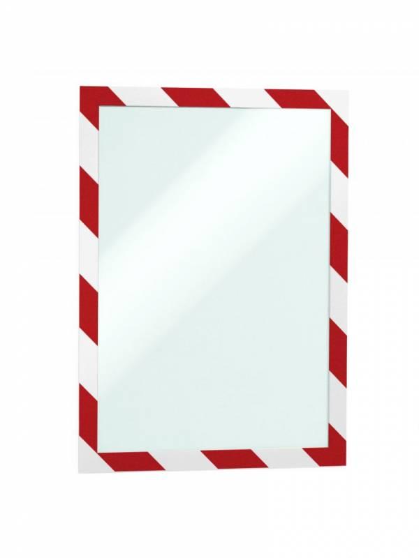 Image of   Skilt DURAFRAME® Security A4 m/rød/hvid ramme 2stk/pak