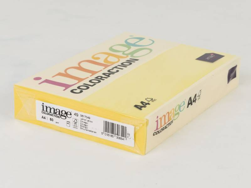 Image of   Kopipapir Image Coloraction A4 80g citrusgul 49 500ark/pk