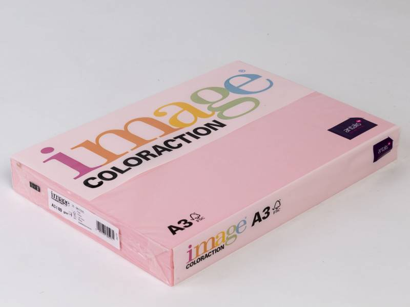 Image of   Kopipapir Image Coloraction A3 80g lys rosa 25 500ark/pk