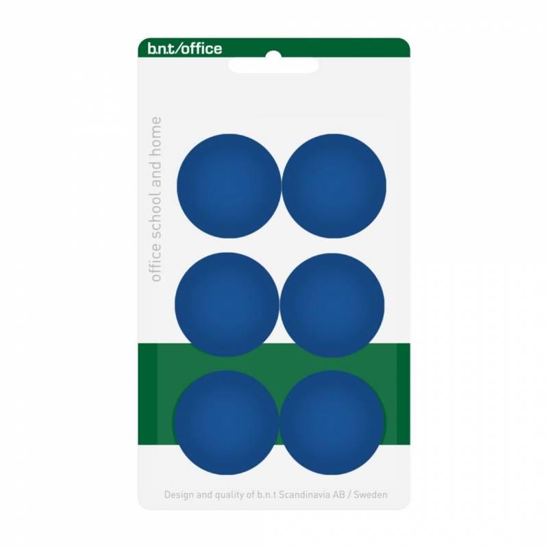 Image of   Magneter bnt blå Ø30mm blister 6stk/pak