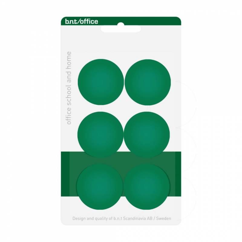Image of   Magneter bnt grøn Ø30mm blister 6stk/pak