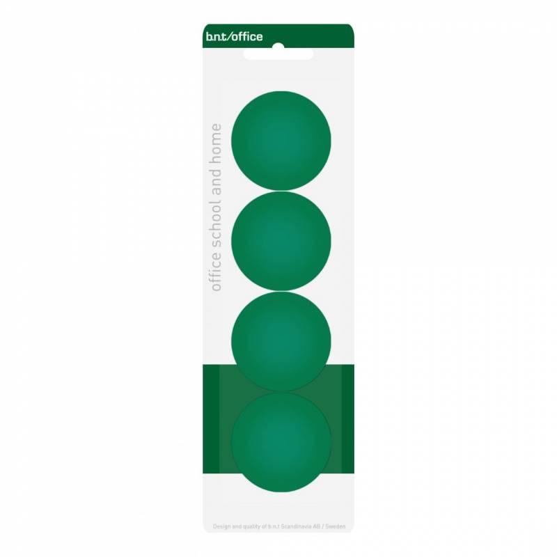 Image of   Magneter bnt grøn Ø40mm blister 4stk/pak