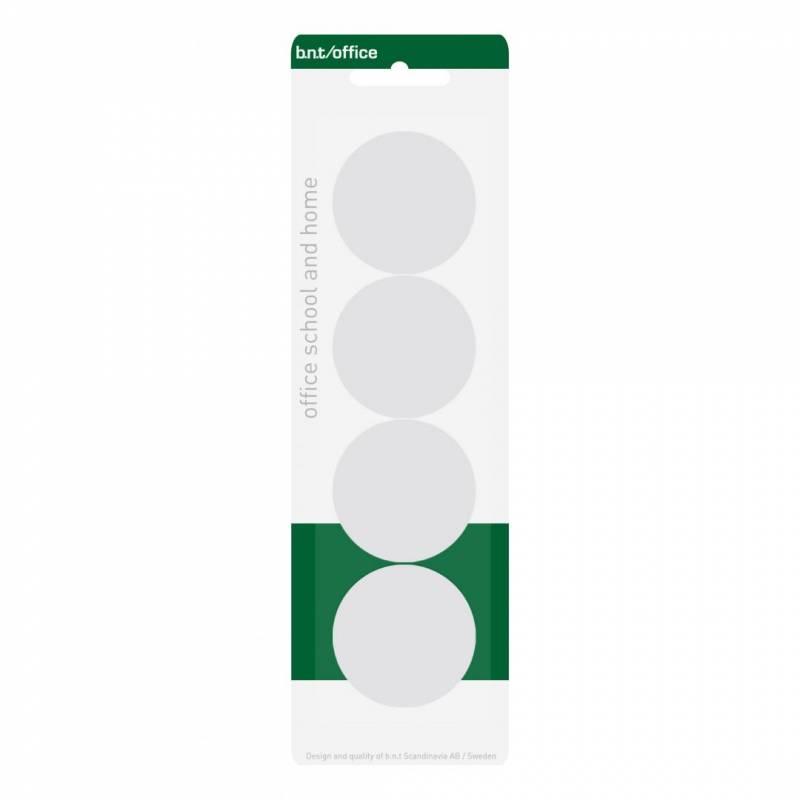 Image of   Magneter bnt hvid Ø40mm blister 4stk/pak