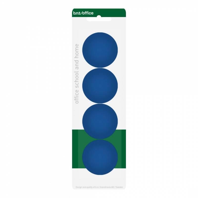 Image of   Magneter bnt blå Ø40mm blister 4stk/pak