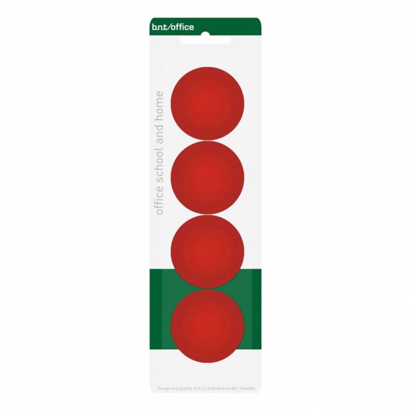 Image of   Magneter bnt rød Ø40mm blister 4stk/pak