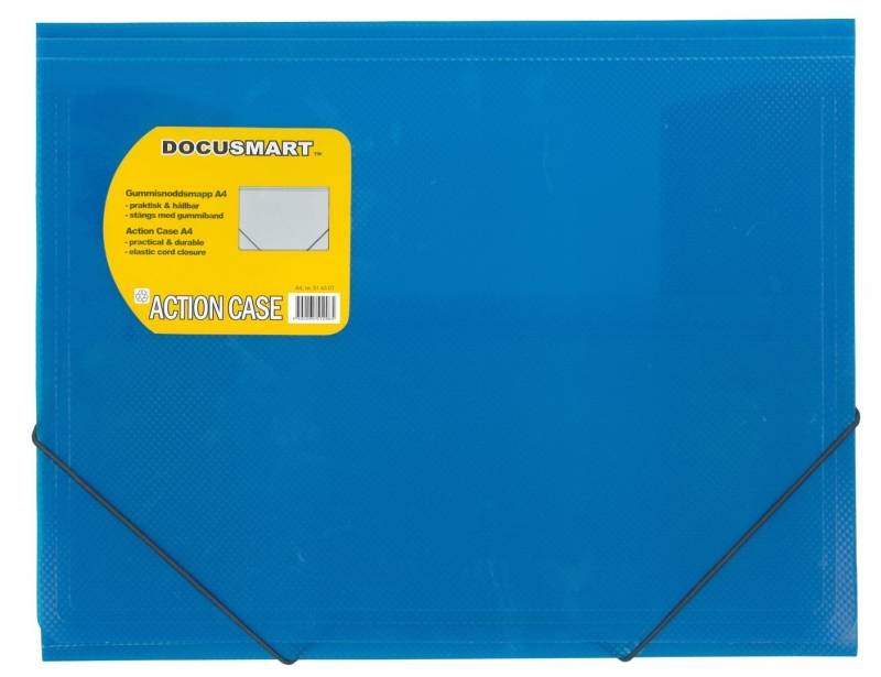 Image of   Plastmappe bnt Docusmart blå m/3 klapper