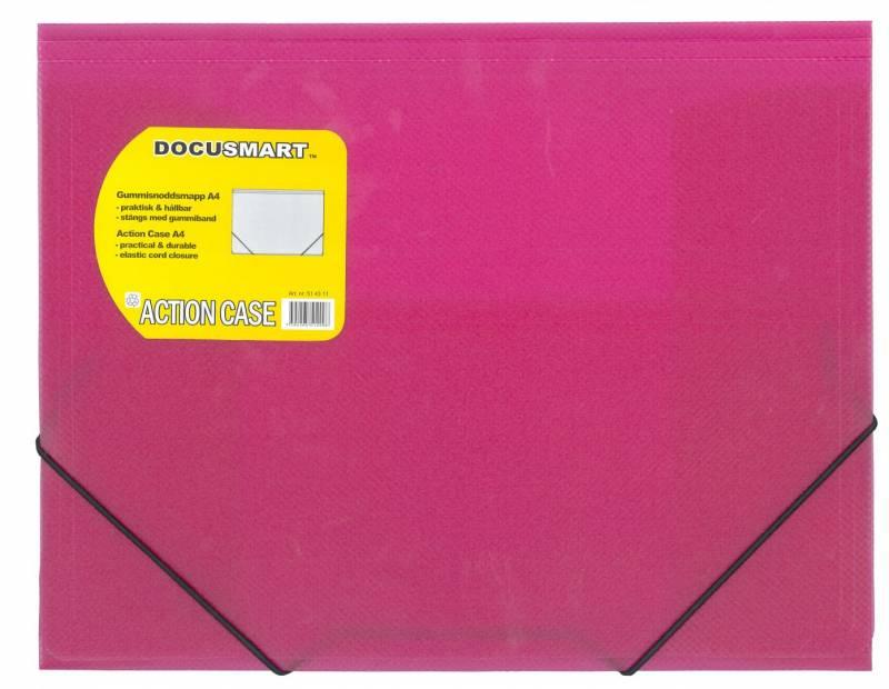 Image of   Plastmappe bnt Docusmart pink m/3 klapper
