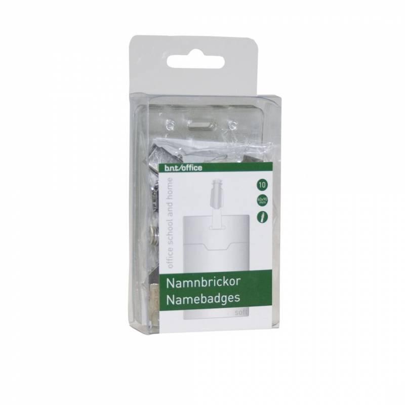 Image of   Navneskilte t/ID 60x90mm blød plast stående format 10stk/pak
