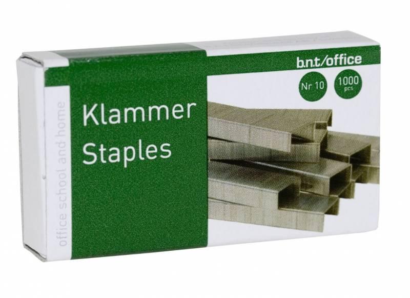 Image of   Hæfteklammer BNT/Office nr.10 galvaniserede 1000stk/pak